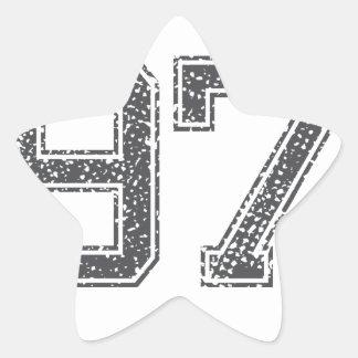 Gray Sports Jersey #97 Star Sticker