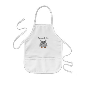 Gray spotted owl kids apron