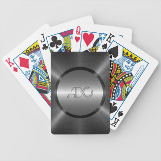 Gray Stainless Steel Metal Bicycle Playing Cards