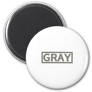 Gray Stamp 6 Cm Round Magnet