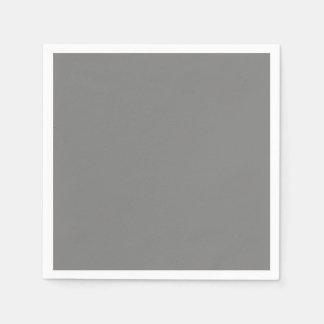 Gray Standard Cocktail Paper Napkin