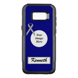 Gray Standard Ribbon Template by Kenneth Yoncich OtterBox Commuter Samsung Galaxy S8+ Case