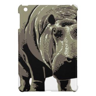 Gray Standing Hippopotamus Cover For The iPad Mini