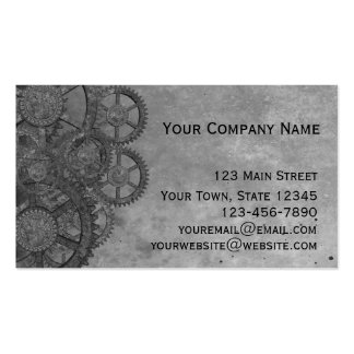 Gray Steampunk Grunge Pack Of Standard Business Cards