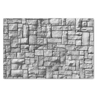 Gray Stone Brick Wall Texture Tissue Paper