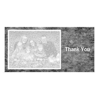 Gray Stone Customized Photo Card