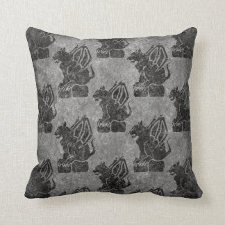 Gray Stone Gargoyles Cushion