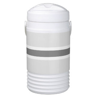 Gray Stripe Half Gallon Igloo Beverage Cooler