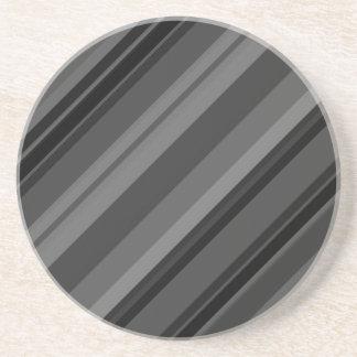 Gray Stripes Coaster
