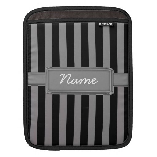 Gray Stripes Rickshaw ipad and laptop sleeve iPad Sleeves