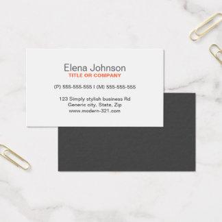 Gray stylish generic simple elegant personal business card