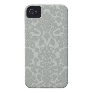 Gray Subtle Embossed Style Damask Iphone 4/4S Case