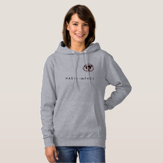 Gray Sweat NASTY IMPACT for woman Hoodie