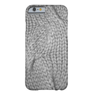 Gray Sweater knitted look, iPhone 6 case
