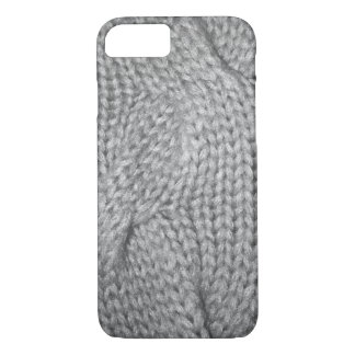 Gray Sweater knitted look, iPhone 7 case