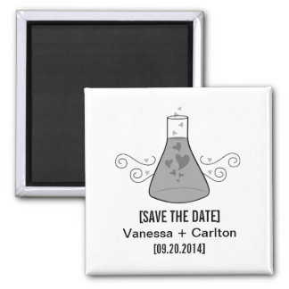 Gray Sweet Chemistry Save the Date Magnet