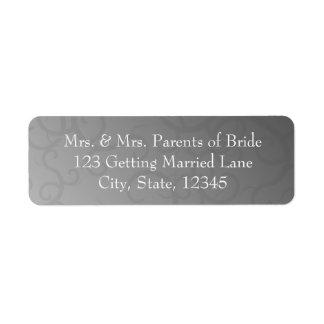 Gray Swirls Avery Label Return Address Label