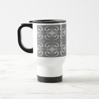 Gray Swirls, Elegant Pattern. Coffee Mugs