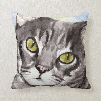 Gray Tabby Cat Gifts Throw Cushion