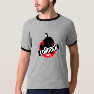 Gray tee-shirt black collar T-Shirt