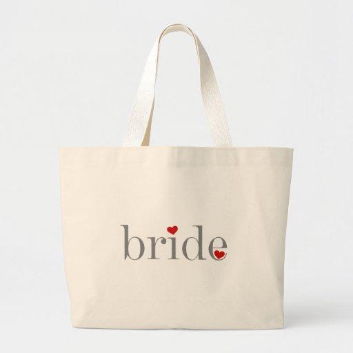 Gray Text Bride Canvas Bags