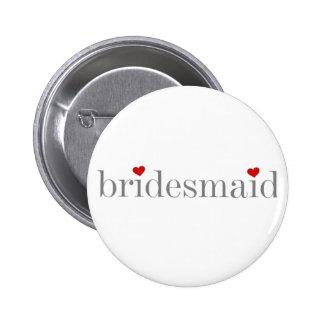 Gray Text Bridesmaid Pins