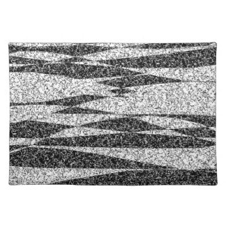 Gray texture placemat