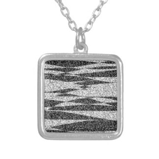 Gray texture silver plated necklace