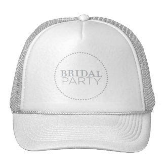 Gray theme bridal party wedding hats