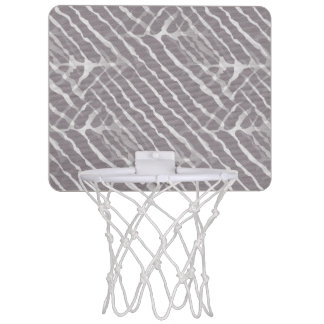 Gray Tiger Stripes Canvas Look Mini Basketball Hoop