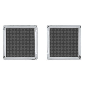 Gray Tile by Julie Everhart Silver Finish Cuff Links