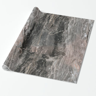 Gray Tones Marble Textured Effect Wrapping Paper