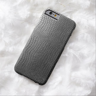 Gray Tones Snakeskin Faux Leather Pattern Look Barely There iPhone 6 Case