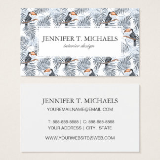 Gray Toucan | Add Your Name Business Card