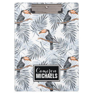 Gray Toucan | Add Your Name Clipboards