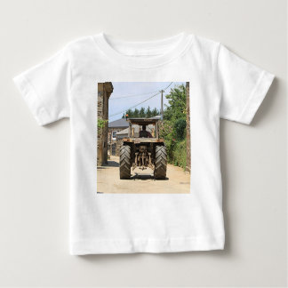 Gray Tractor on El Camino, Spain Baby T-Shirt