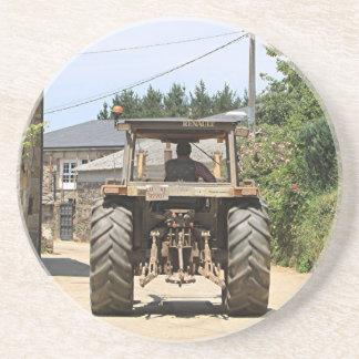 Gray Tractor on El Camino, Spain Coaster