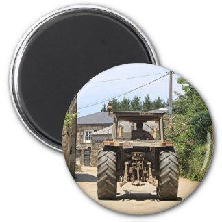 Gray Tractor on El Camino, Spain Magnet