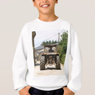 Gray Tractor on El Camino, Spain Sweatshirt