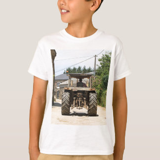 Gray Tractor on El Camino, Spain T-Shirt