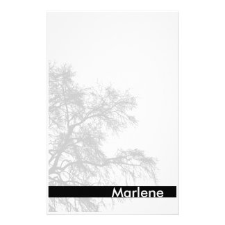 Gray Tree Silhouette Stationery