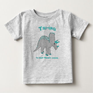 Gray Triceratops Boy Tee
