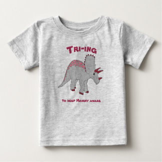 Gray Triceratops Girl Tee
