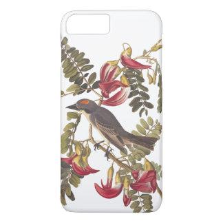 Gray Tyrant Audubon Bird on Hummingbird Tree iPhone 7 Plus Case