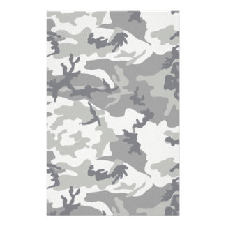 Gray Urban Camo for Scrapbooking Stationery