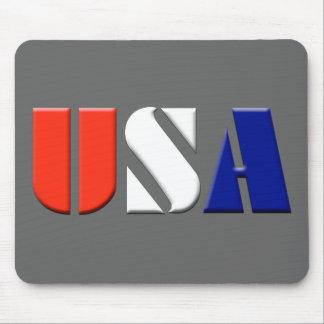 Gray USA Mousepad