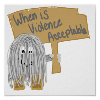 Gray Violence not acceptable Poster