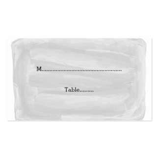 Gray Watercolor Wedding Place Cards Pack Of Standard Business Cards