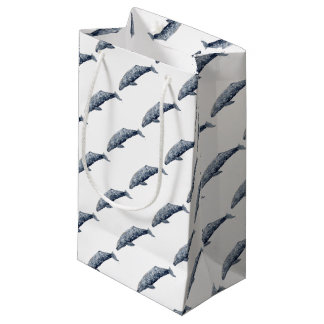 Gray whale small gift bag