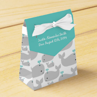 Gray Whale Theme Baby Shower Favour Box
